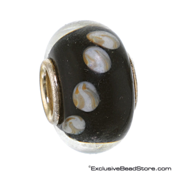 Charlotte Borgen Black Glass Bead - Exclusive Bead Store