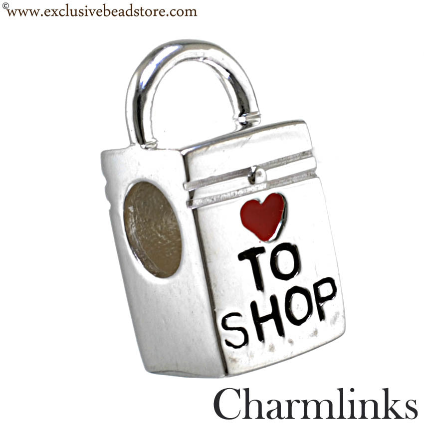 Charmlinks Silver Bead Born To Shop