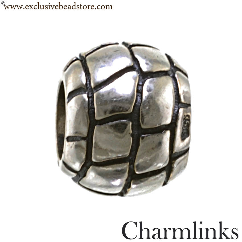 Charmlinks Silver Bead Patterned Ball