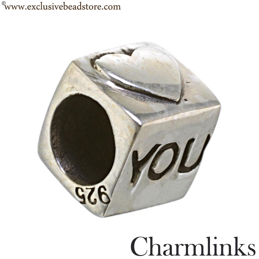 Charmlinks Silver Bead I Love You