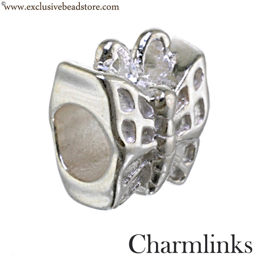 Charmlinks Silver Bead Butterfly