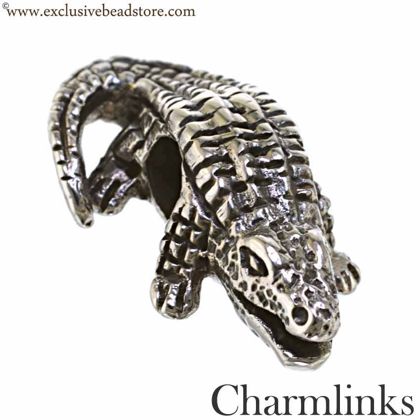 Charmlinks Silver Bead Crocodile