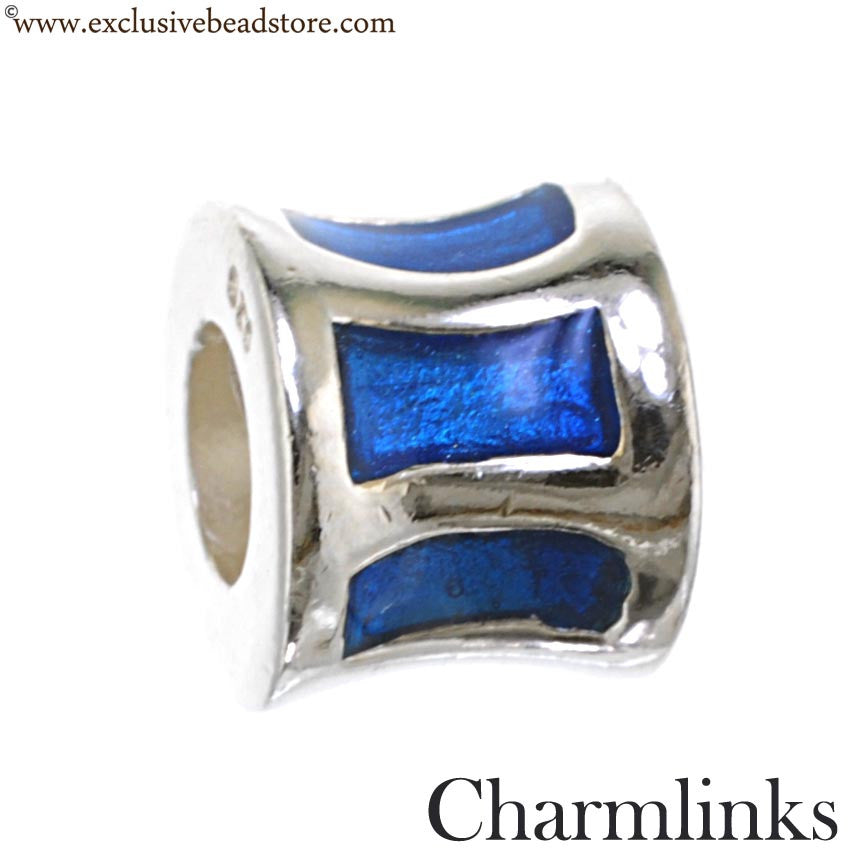 Charmlinks Silver and Enamel Bead