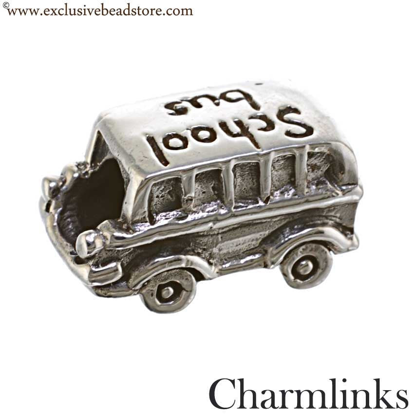Charmlinks Silver Bead School Bus