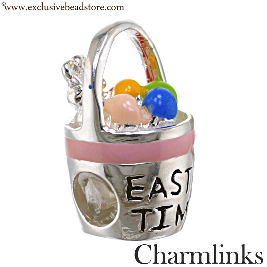Charmlinks Silver and Enamel Easter Time Bead
