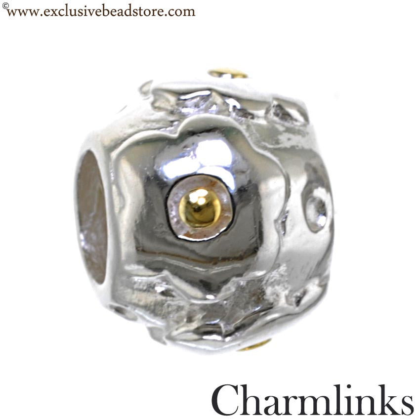 Charmlinks Silver and Gold Plated Bead