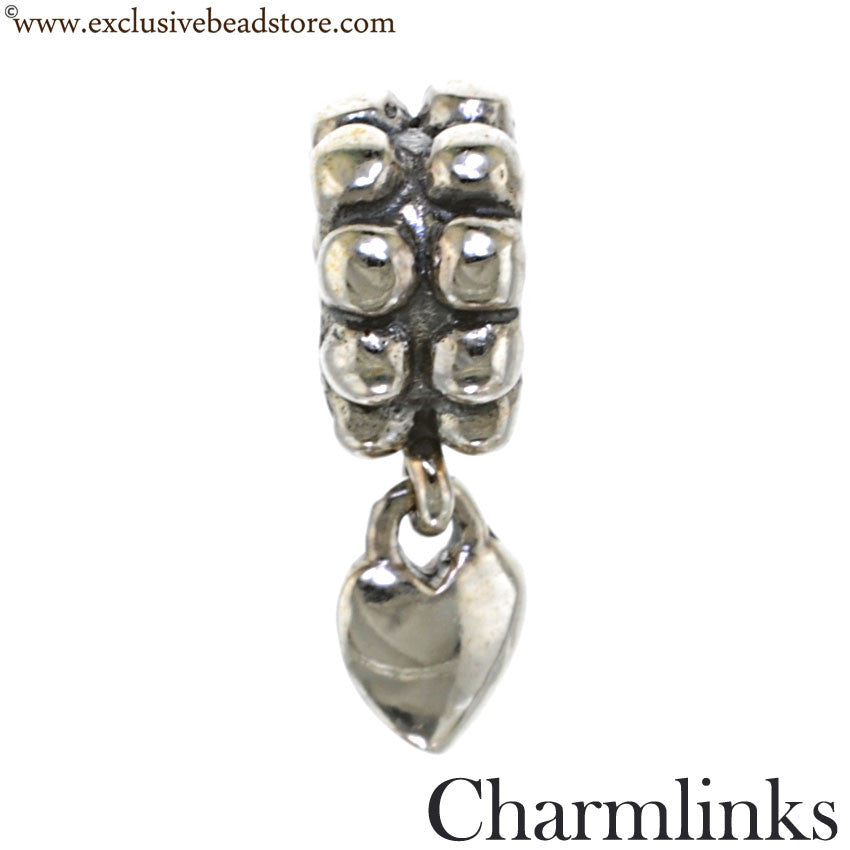 Charmlinks Silver Dangling Heart Bead