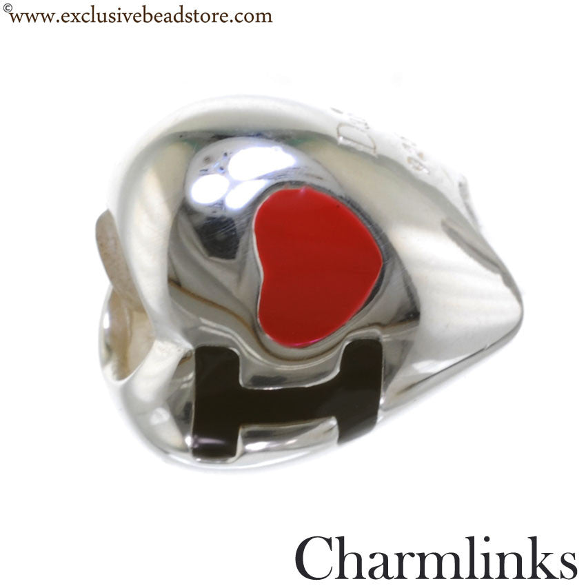 Charmlinks Silver and Enamel I Love NY Bead