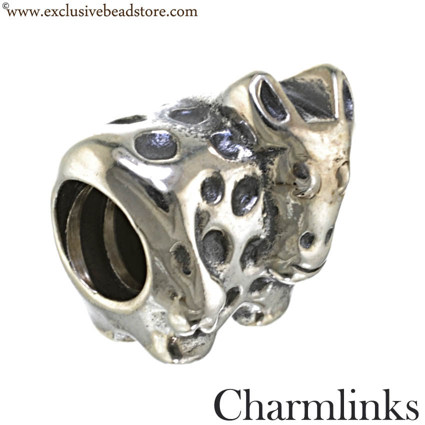 Charmlinks Silver Cow Bead