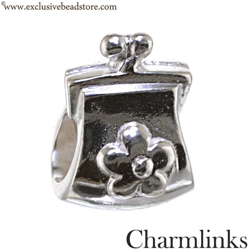 Charmlinks Silver Purse Bead