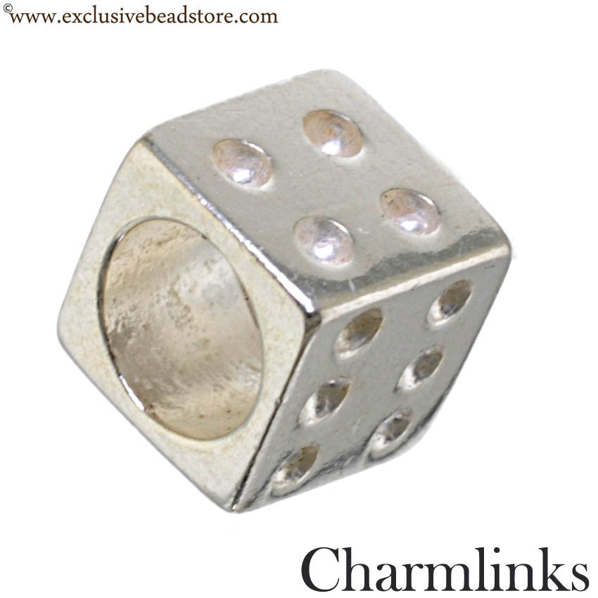 Charmlinks Silver Dice Bead