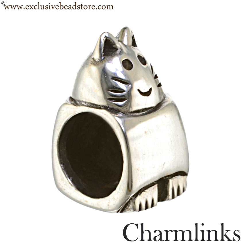 Charmlinks Silver Cat Bead