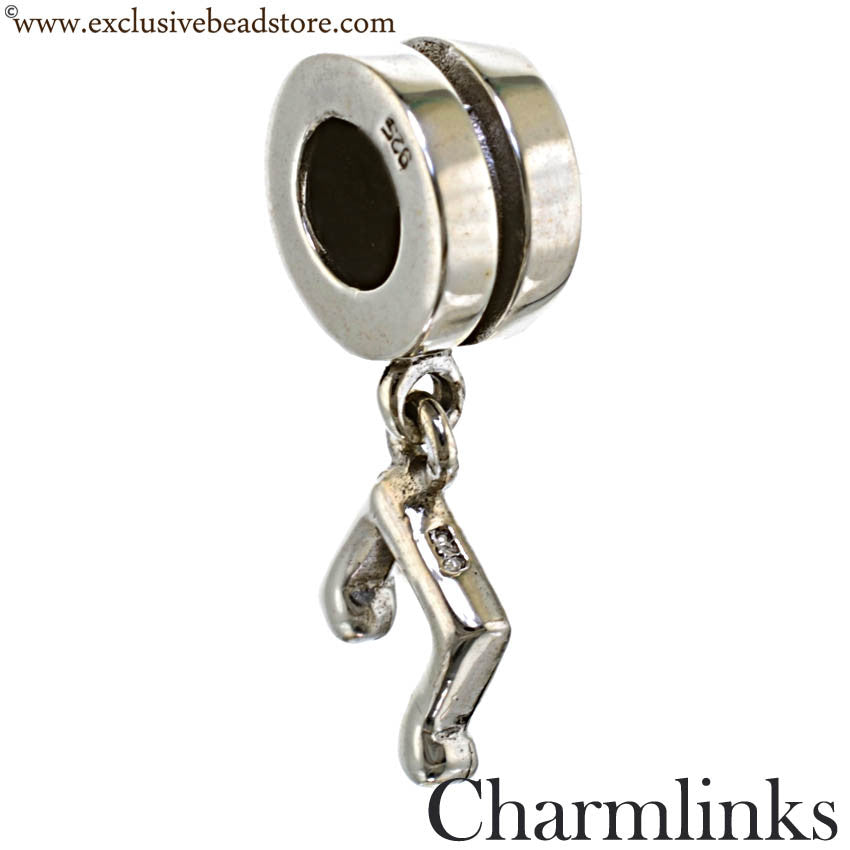 Charmlinks Silver Dangling Music Note Bead