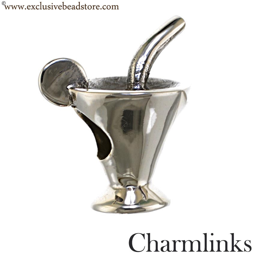 Charmlinks Silver Cocktail Glass Bead
