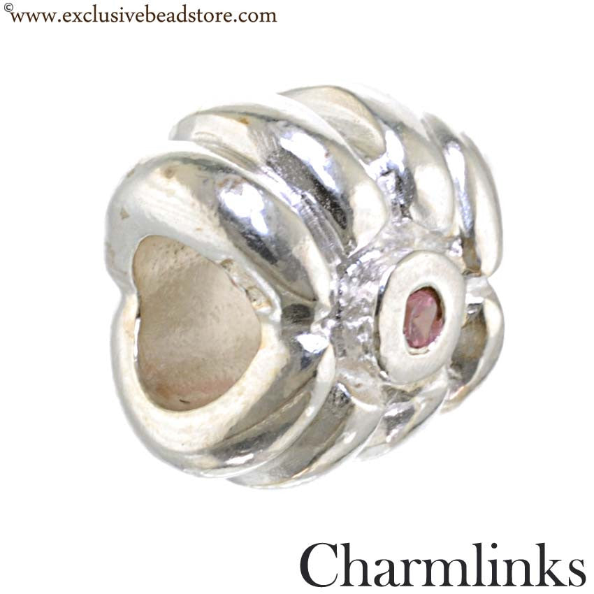 Charmlinks Silver and Cubic Zirconia Bead