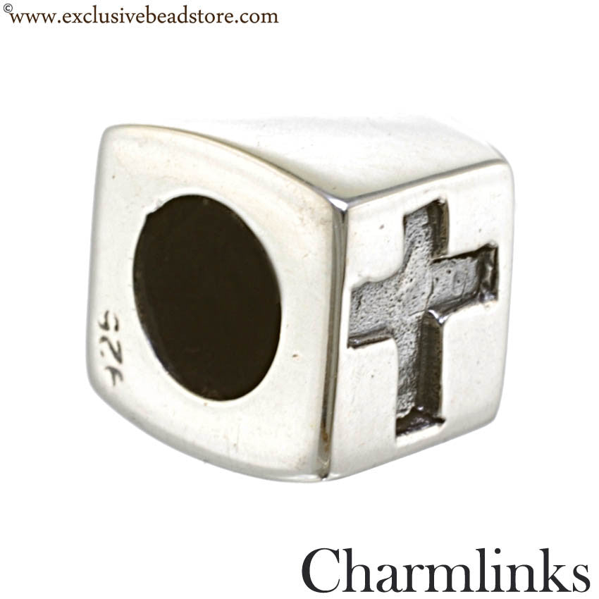 Charmlinks Silver Cross Bead