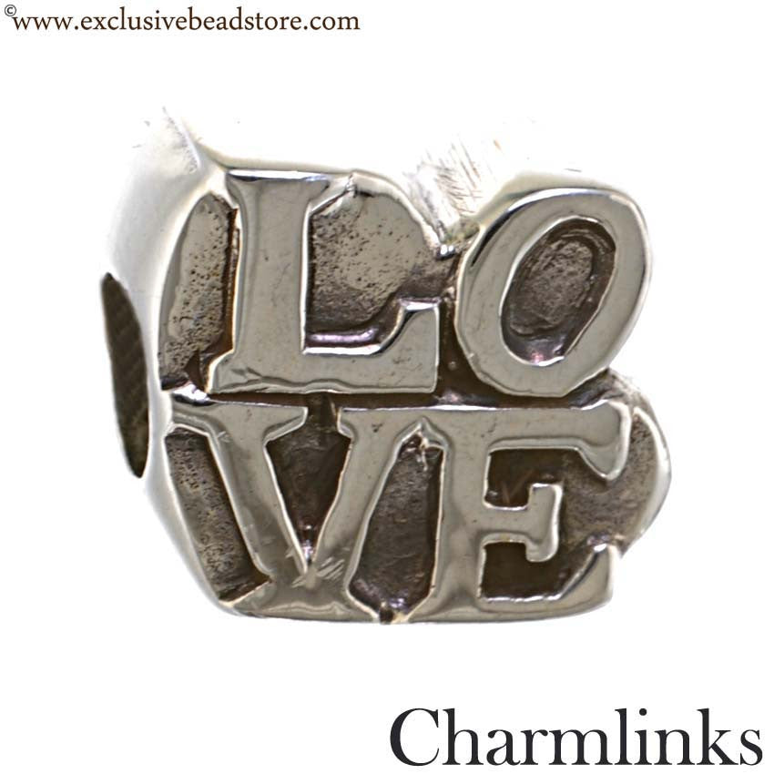 Charmlinks Silver Love Bead