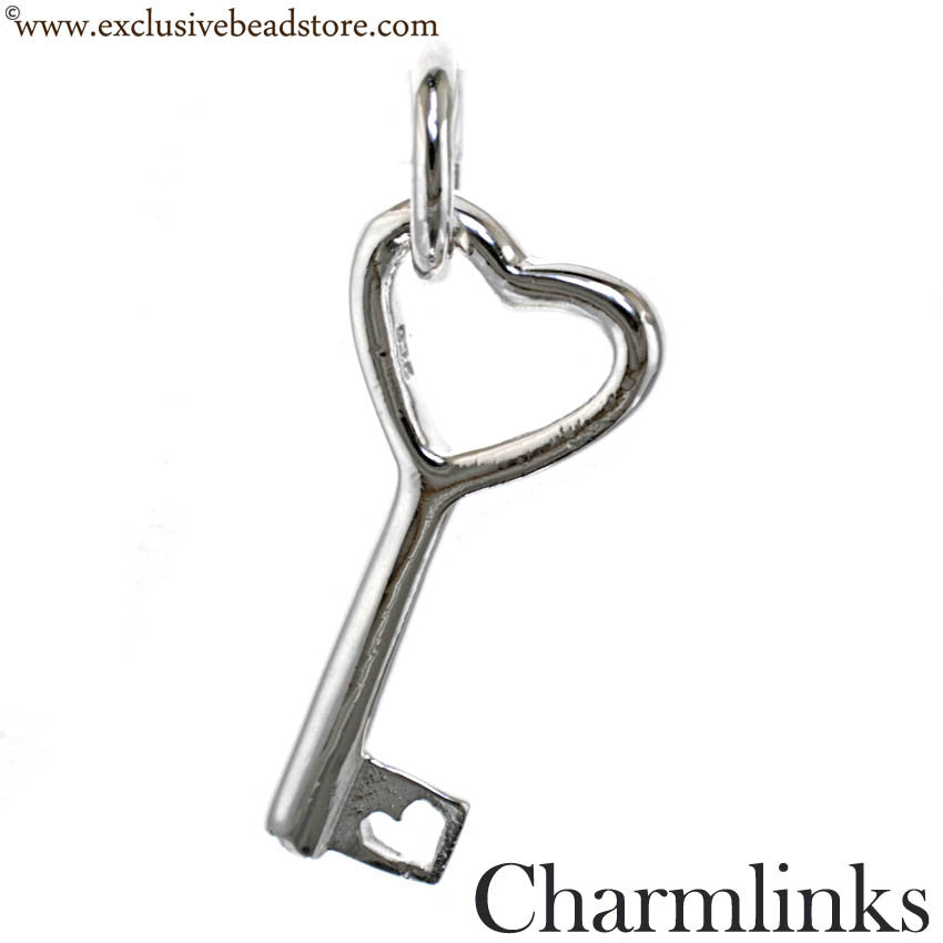 Charmlinks Silver Dangling Key Bead