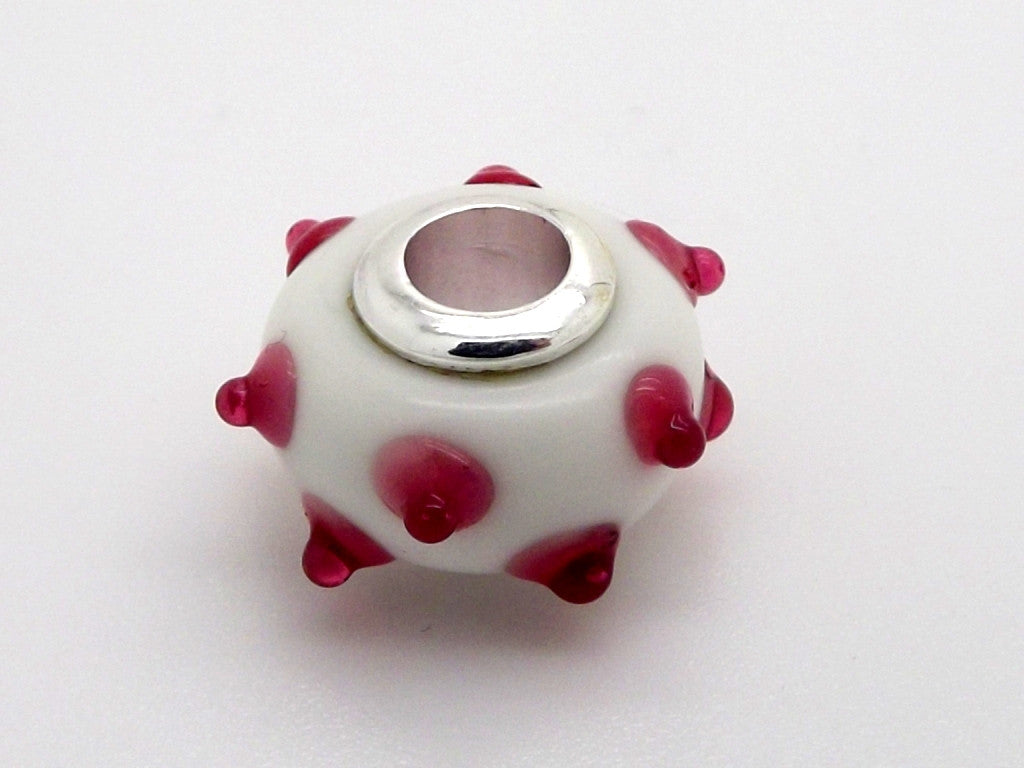 Charmlinks Red Perky Glass Bead