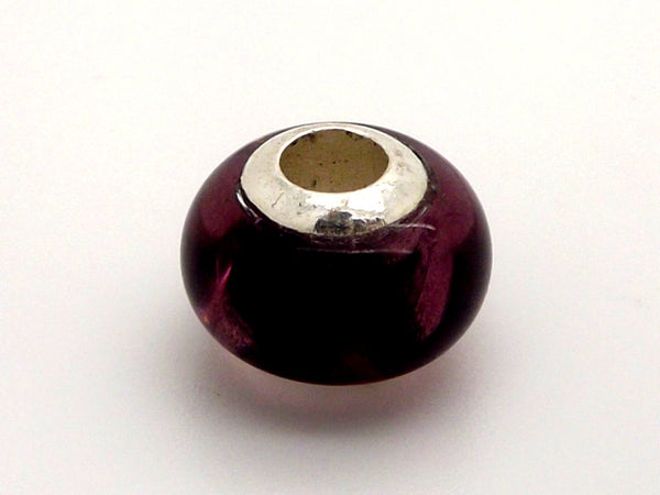 Charmlinks Deep Purple Glass Bead - Exclusive Bead Store