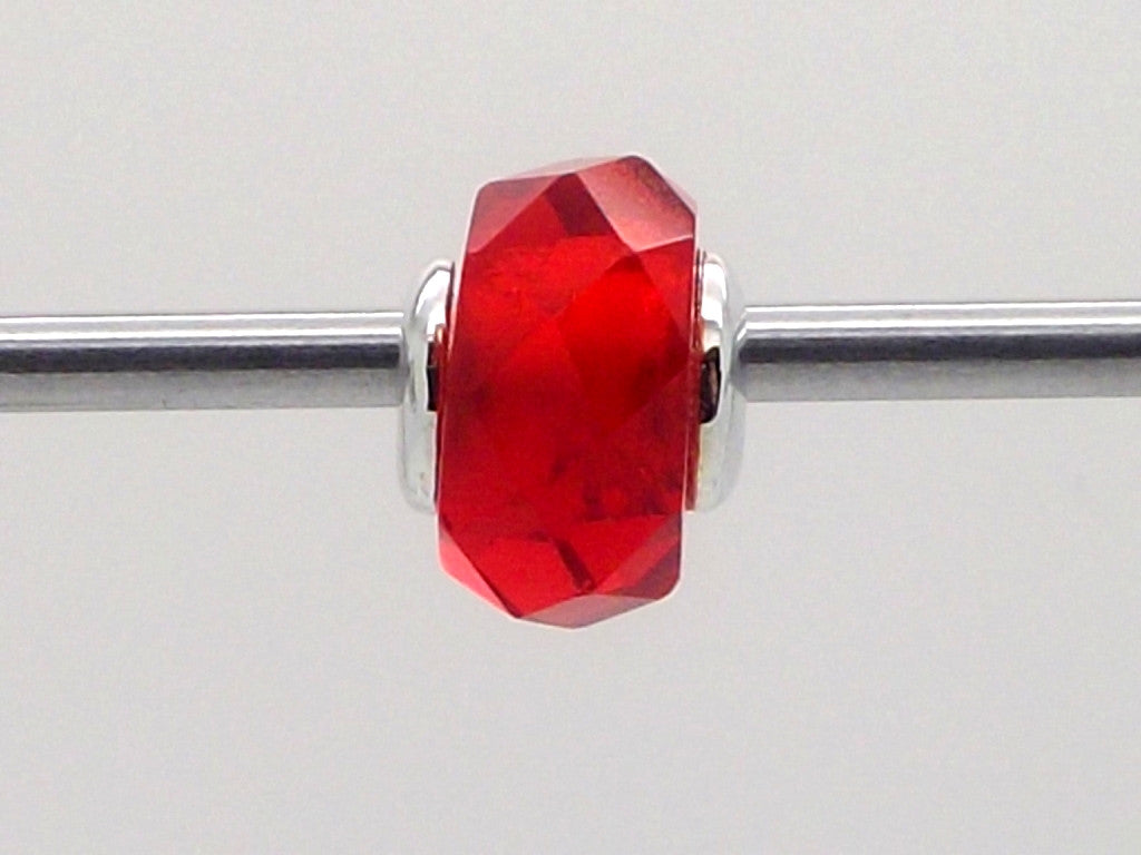 Charmlinks Red Faceted Glass Bead