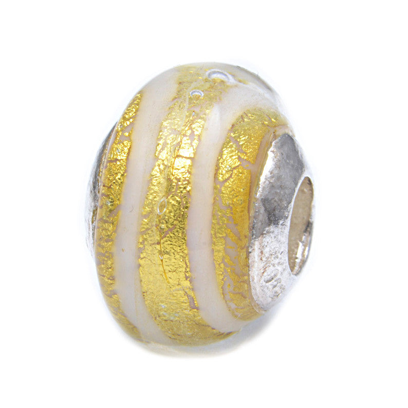 Charmlinks Glass Bead Clementine - Exclusive Bead Store