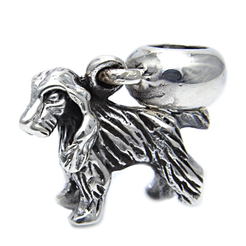 Charmlinks Silver Bead Cocker Spaniel