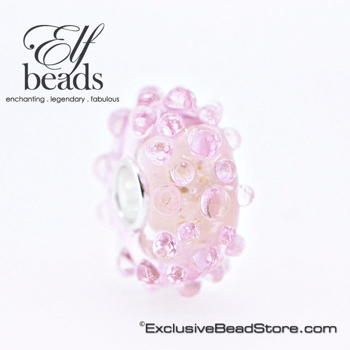 Elfbeads Baby Pink Gold Flakes Dewdrops
