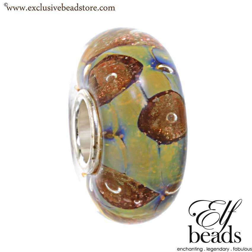 Elfbeads Galaxy Universe Blue Glass Bead