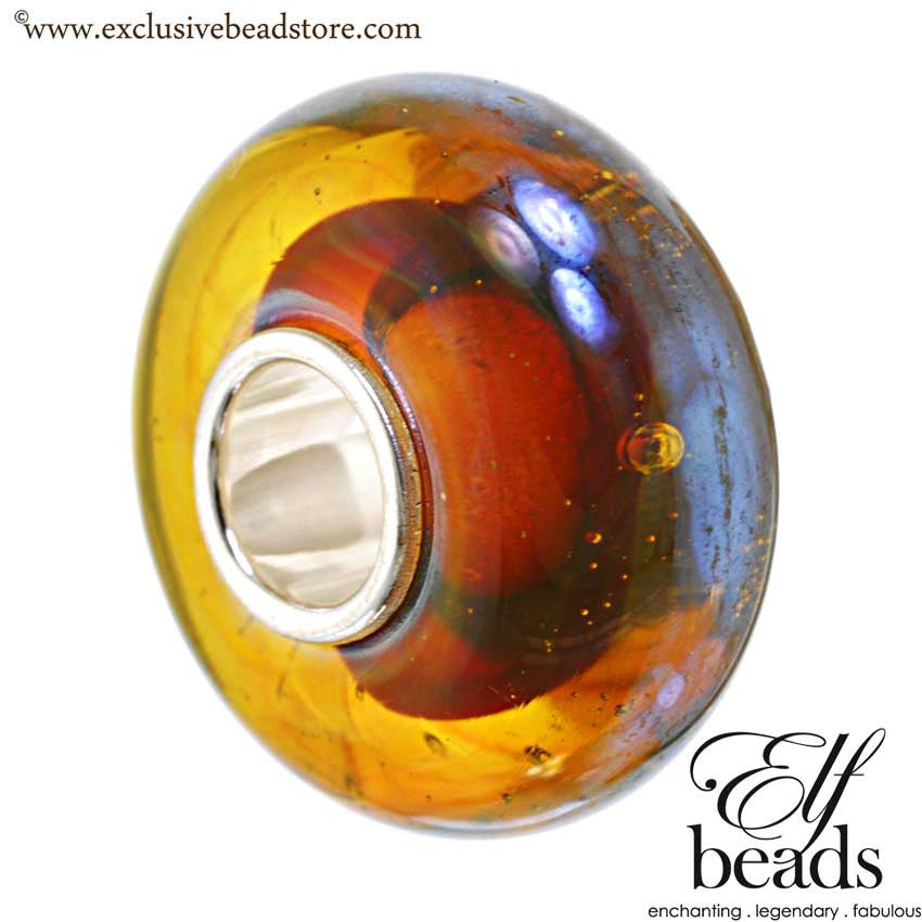 Elfbeads halo oil Glass Bead.