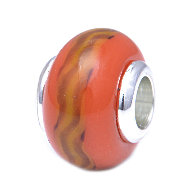 Charmlinks Glass Bead Fire - Exclusive Bead Store