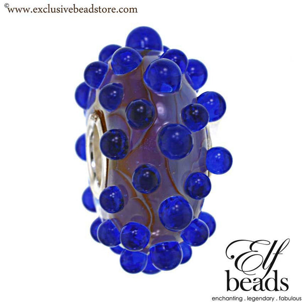 Elfbeads Blackberry Dewdrops Glass Bead