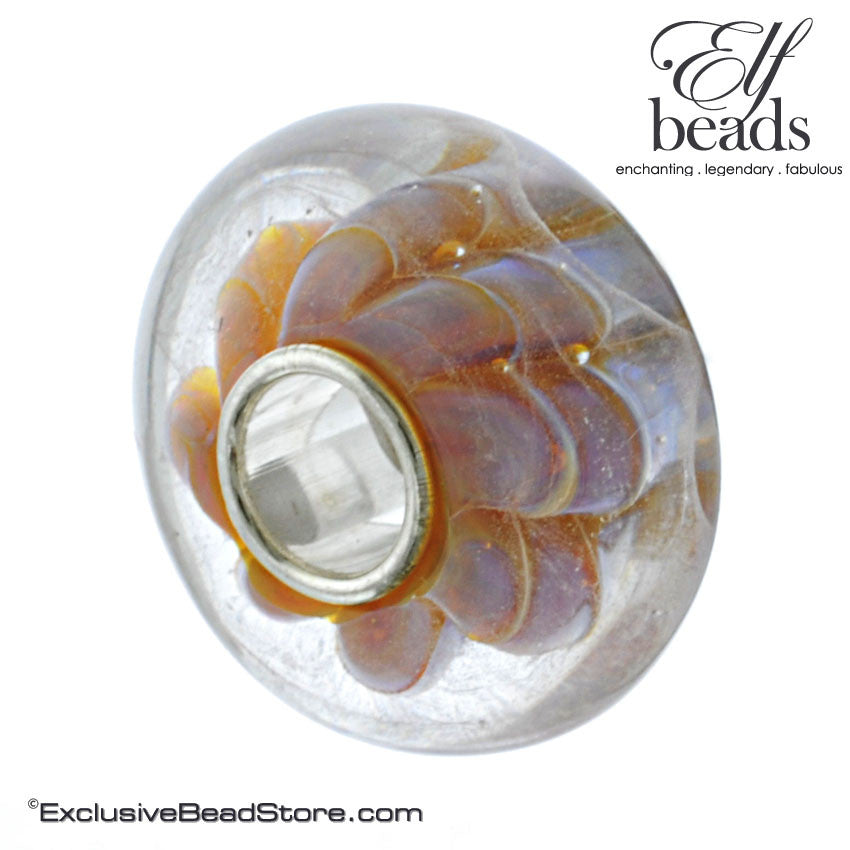 Elfbeads Cotton Candy Dunes Glass Bead