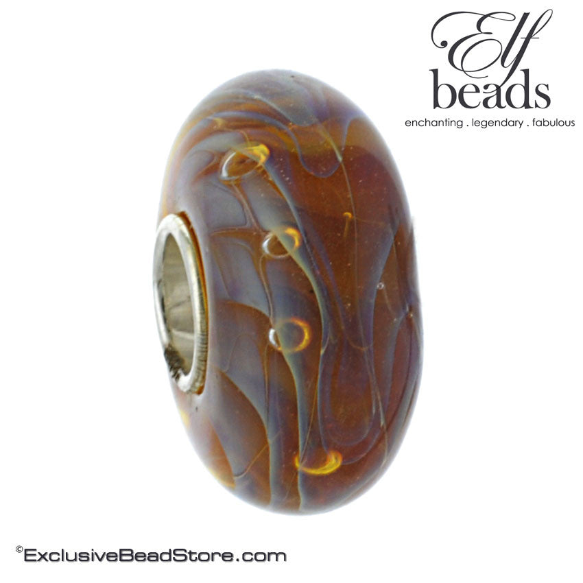 Elfbeads Halo Flames Glass Bead