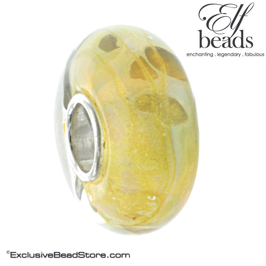 Elfbeads Retired G140053 Sunny Freckles Glass Bead