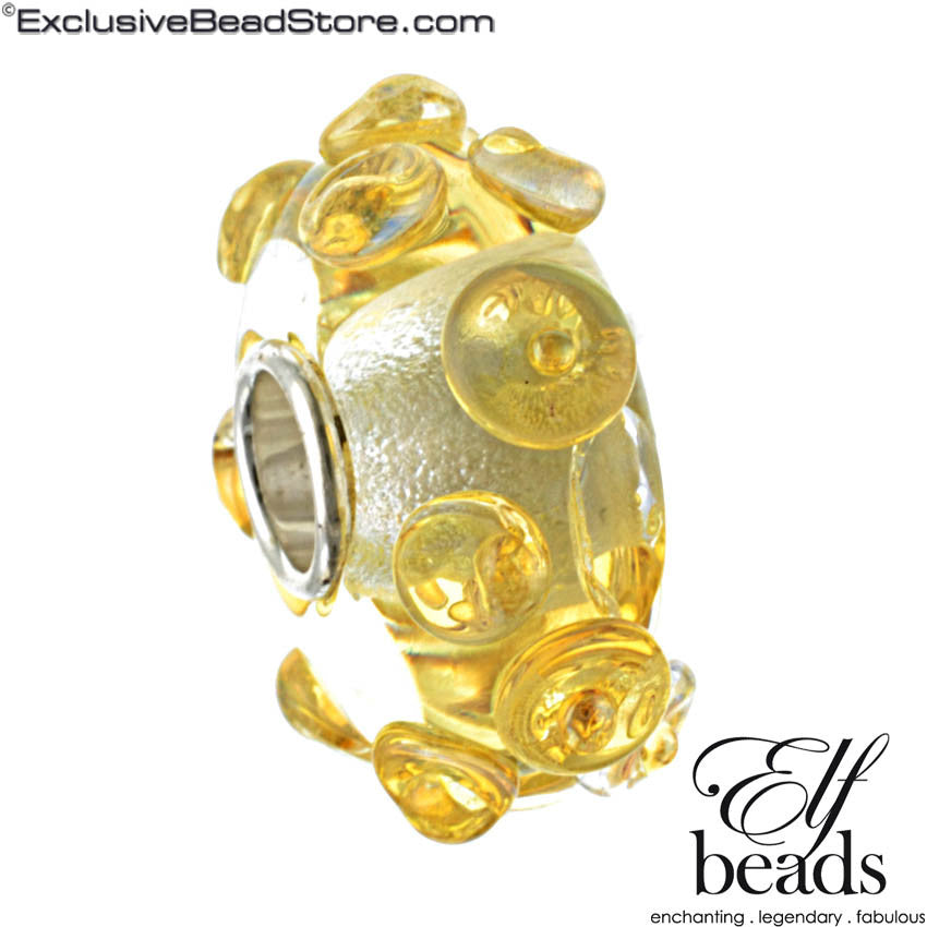 Elfbeads Gold Pearls Glass Bead