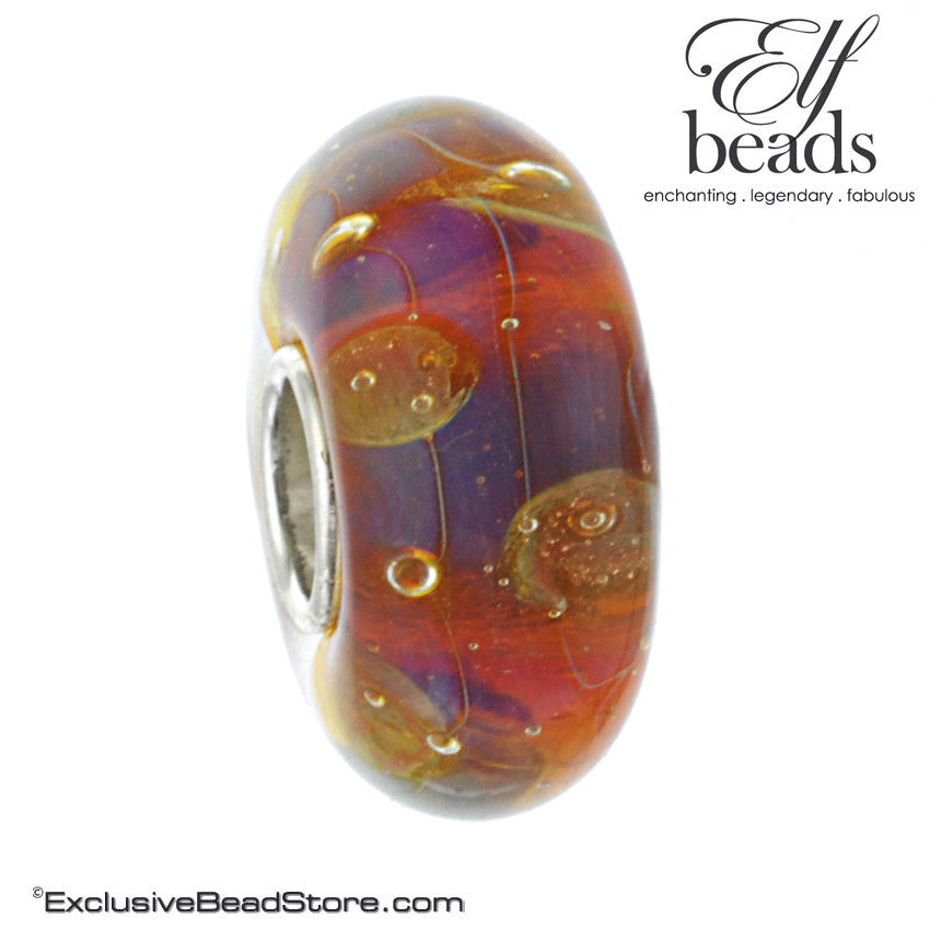 Elfbeads Halo Universe Glass Bead.