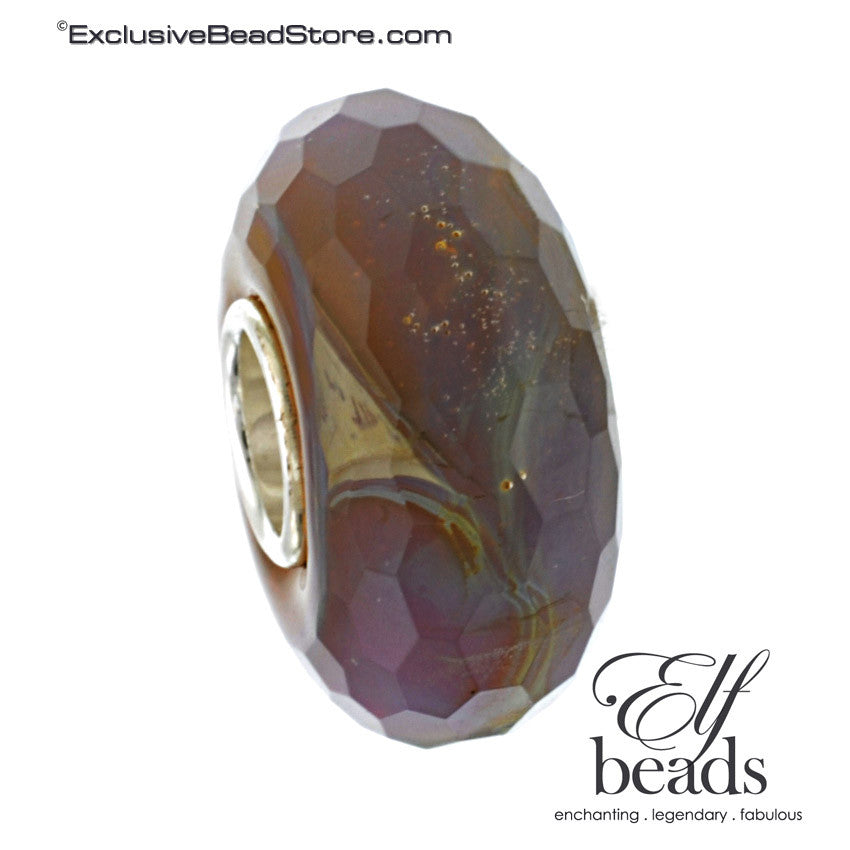 Elfbeads Halo Fractal (Faceted) Glass Bead