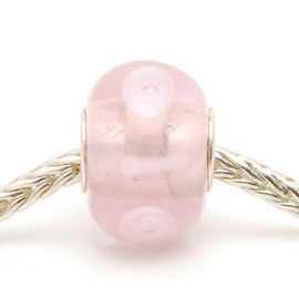 Charlotte Borgen Light Pink Glass Bead - Exclusive Bead Store