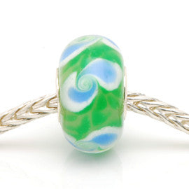Charlotte Borgen Green Glass Bead - Exclusive Bead Store