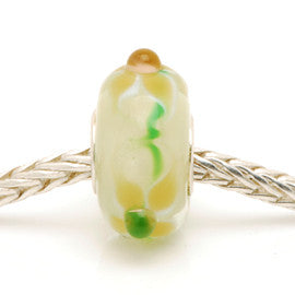 Small Charlotte Borgen Beige Glass Bead
