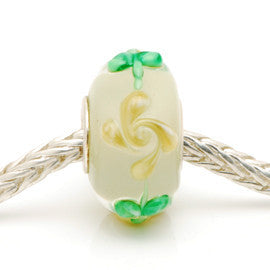 Charlotte Borgen Beige Glass Bead - Exclusive Bead Store