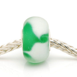 Small Charlotte Borgen SCB52 Green Glass Bead