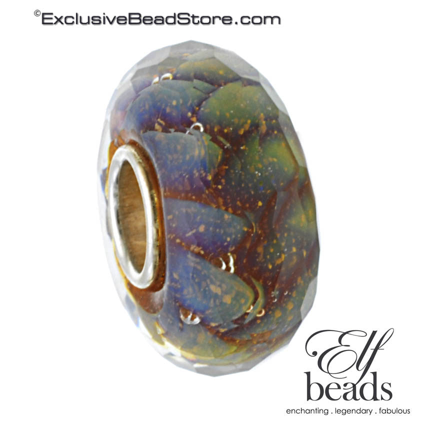 Elfbeads Fractal (Faceted) Glass Bead