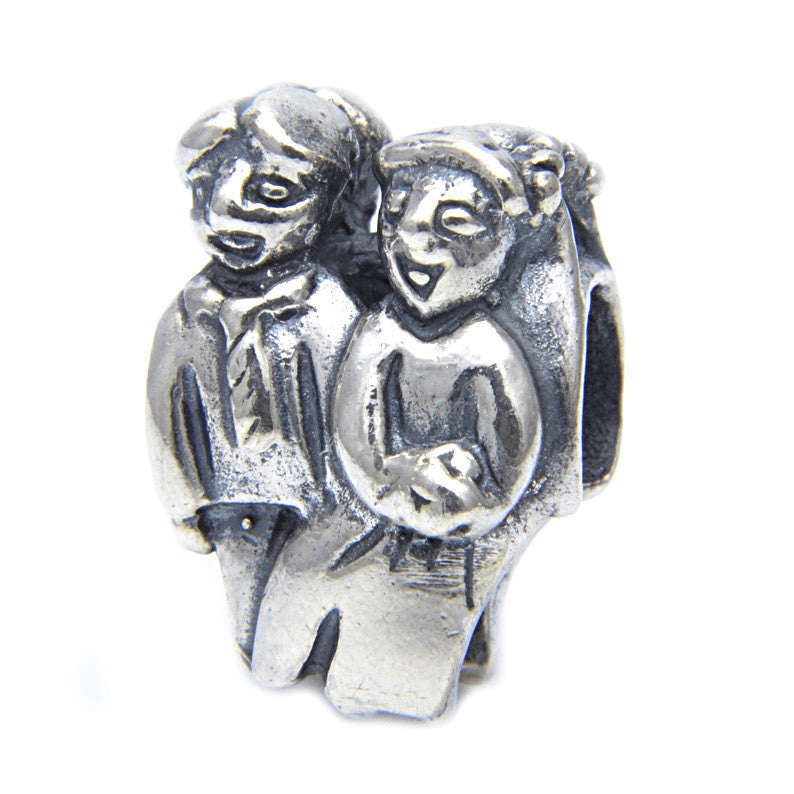 Charmlinks Silver Bead Happy Couple