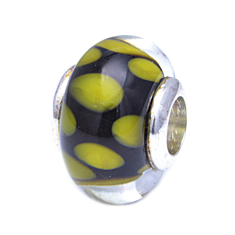 Charmlinks Glass Bead Kiwi - Exclusive Bead Store