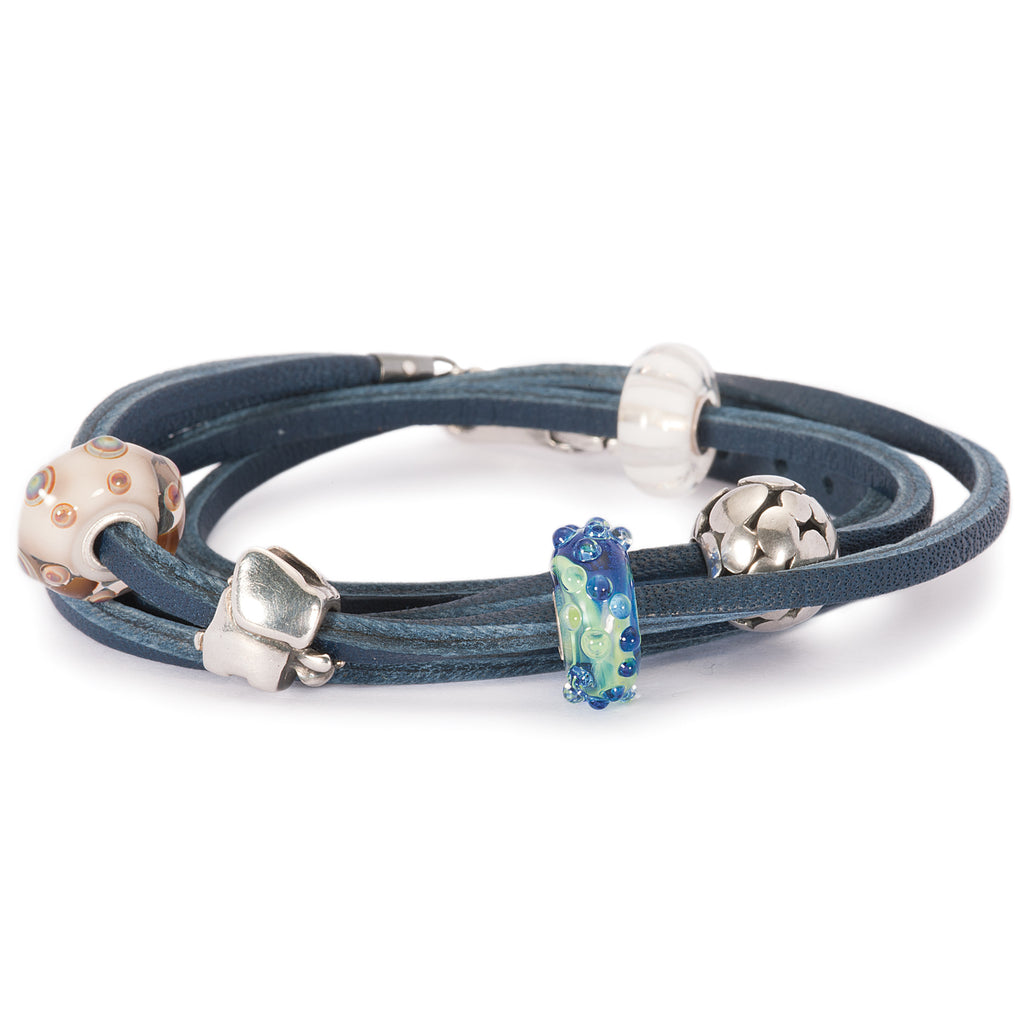 Trollbeads Blue Leather Bracelet