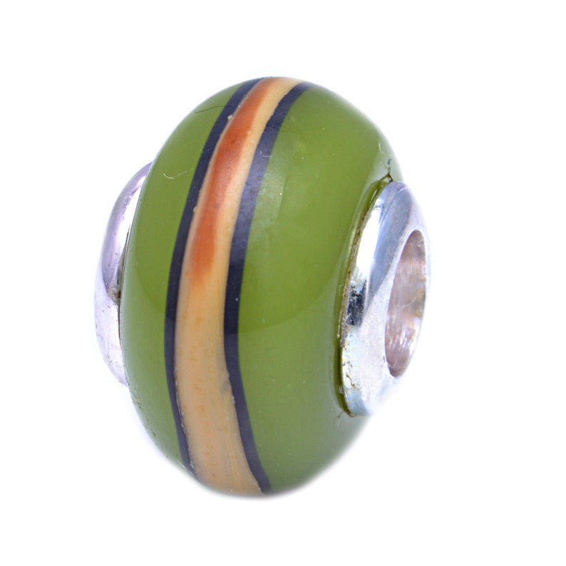 Charmlinks Glass Bead Limestone - Exclusive Bead Store