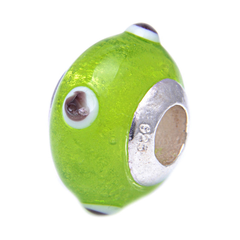 Charmlinks Glass Bead Lime - Exclusive Bead Store