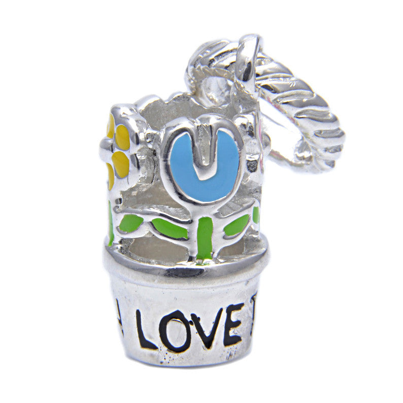 Charmlinks Silver Bead Love To Garden